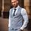 Thumbnail: Colt light blue check three piece suit