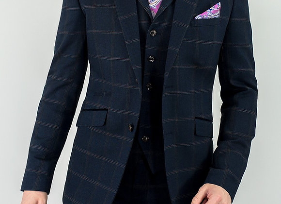Connall Navy Tweed suit
