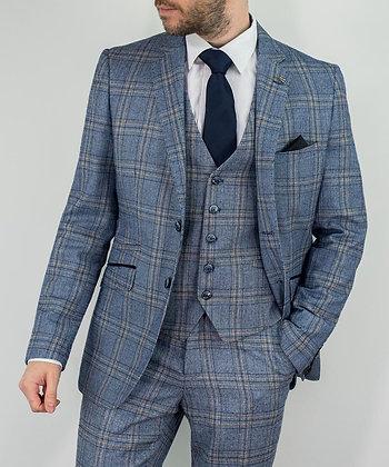 Brendan Blue Check suit