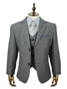 Boys Reegan grey 3 piece suit