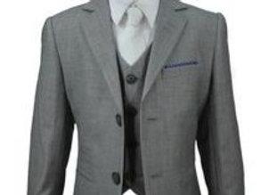 Boys Reegan grey 3 piece suit