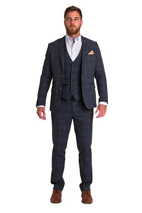 Marc Darcy Scott Blue Tweed Suit