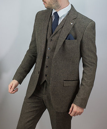 Brown martez tweed suit