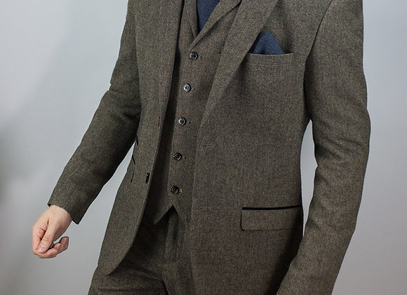 Brown martez tweed suit