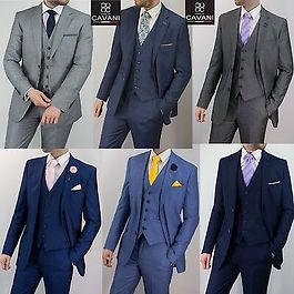 Mens-Cavani-Wedding-3-Piece-Suit-Formal-
