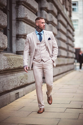 Cream sandom 3 piece suits