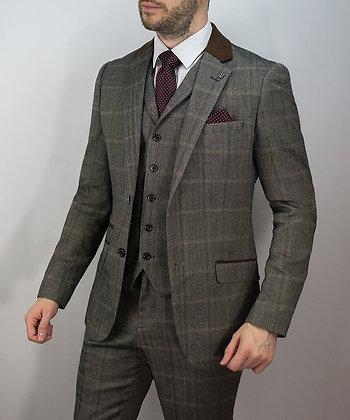 Brown connall tweed suit