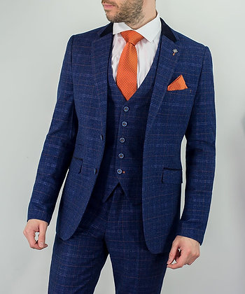 Blue tweed kaiser 3 piece suit