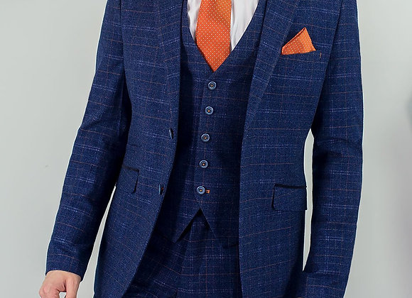 Blue tweed kaiser 3 piece suit