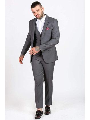 Grey 3 piece suit by Marc Darcy