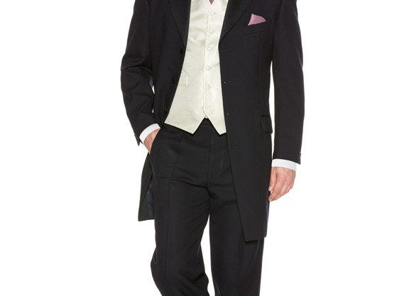 Navy Herringbone Prince Edwards Suit