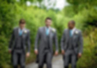 Grey Tailcoats ith Blue Ties