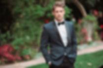Men's Tuxedo Suit with Bow Tie