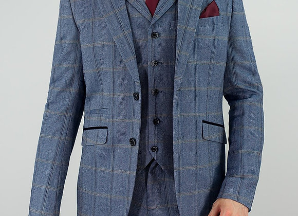 Connall blue tweed suit