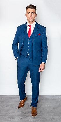 Miami blue slim fit suit