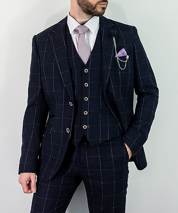 Angels navy tweed suit
