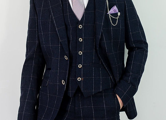 Angels navy tweed suit