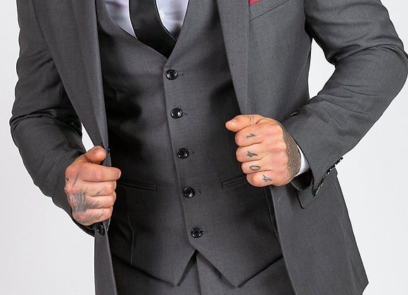 Grey 3 piece suit by Marc Darcy