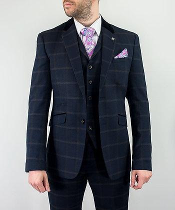 Connall Navy tweed suit
