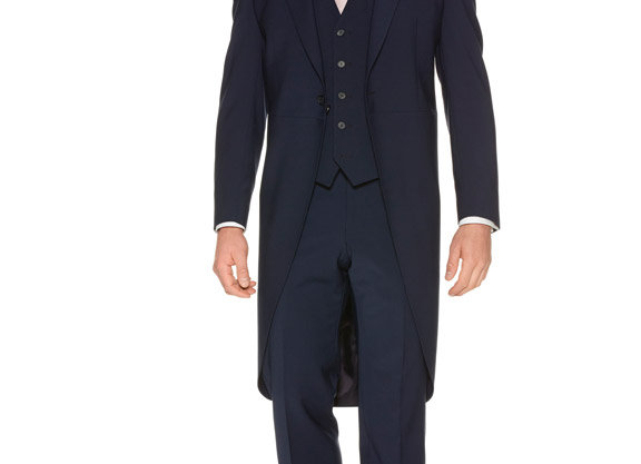 Navy Slim Fit Tailcoat