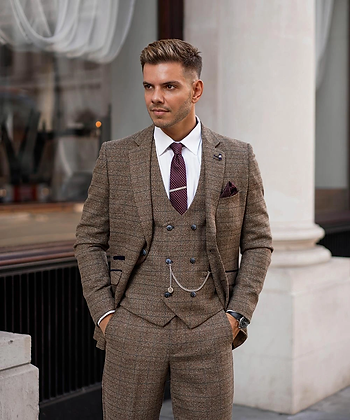 Brown Ascari Bouble Breasted Suit