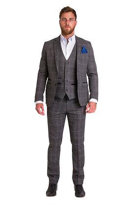 Marc Darcy Victor grey tweed suit