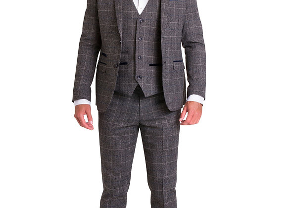Marc Darcy Victor grey tweed suit