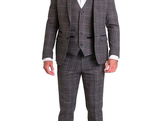 Marc Darcy Scott grey tweed suit