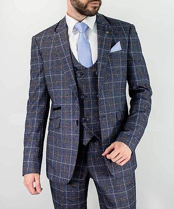 Bonita blue check 3 piece suit