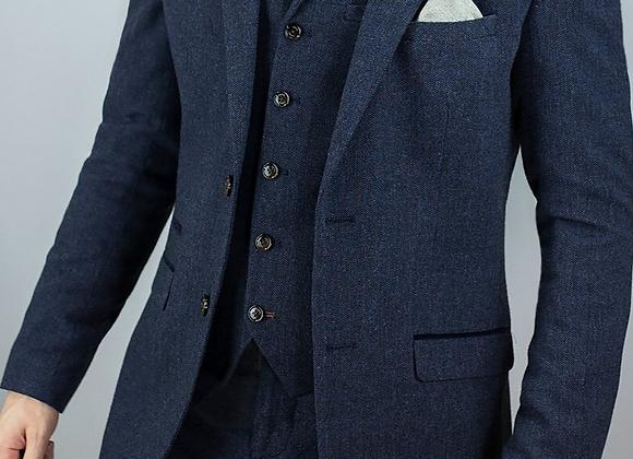 Blue martez 3 piece suit