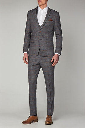 Jenson Grey check 3 piece suit