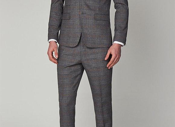 Jenson Grey check 3 piece suit