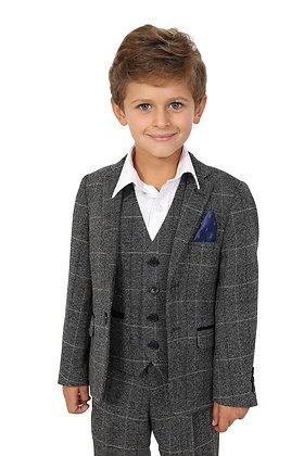 Boys Tweed Grey Scott Suit