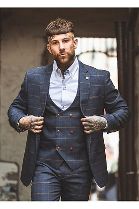 Mens Check Jenson Suit By Marc Darcy