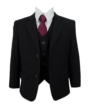 Boys black 3 piece suit