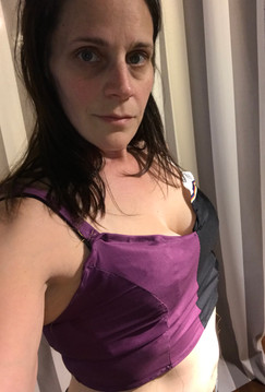 Bralette - Purple and Black
