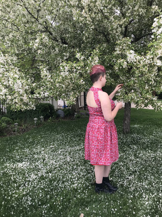 Spring Eye Dress - Back