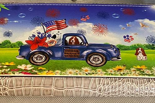 Wallet Basset -Truck-Patriotic Themed