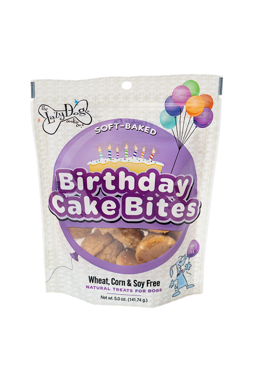 The Lazy Dog Birthday Cake Bites