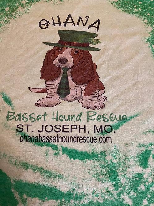 Ohana Basset Hound IrishThemed T-shirt