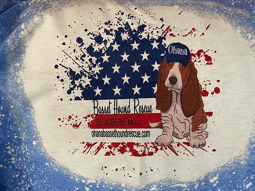 Patriotic Basset Hound