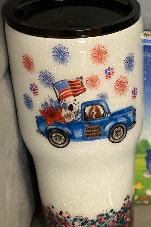 30 oz Tumbler Patriotic with Truck