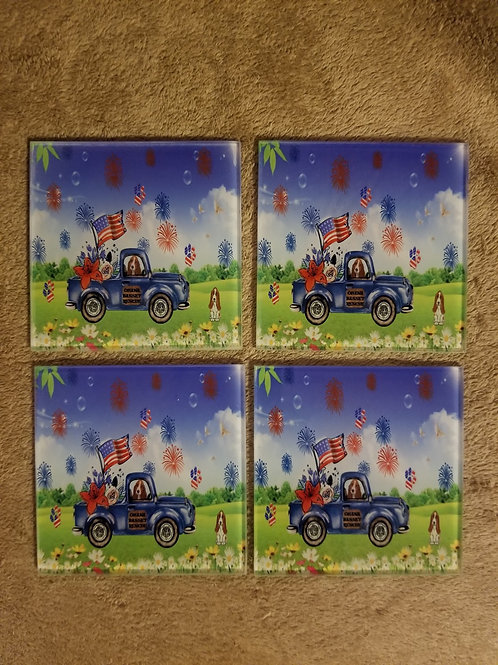 Glass Coasters set of 4