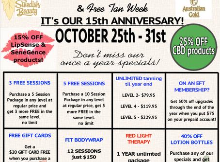 Customer Appreciation Days & FREE TAN WEEK!