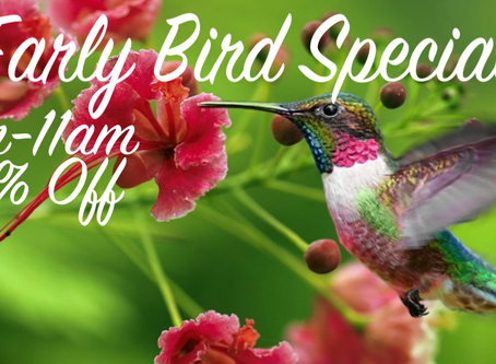 25% Off with our Early Bird Special