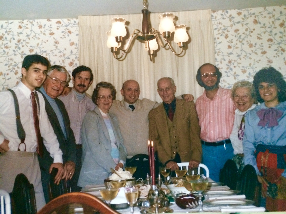 Lyman family holiday dinner in Columbia, mid-1980s.