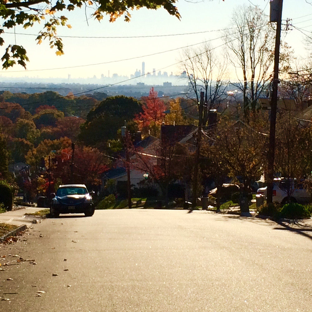 This morning's view from my friend's street in West Orange