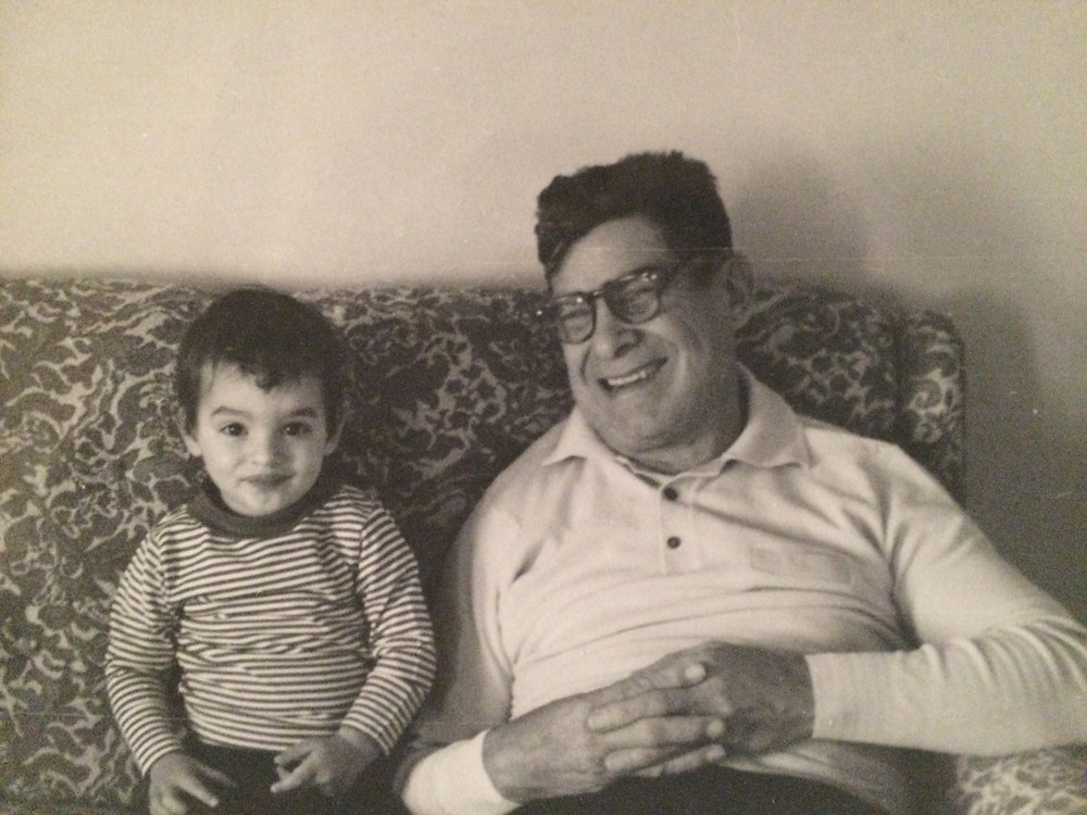My brother with my mom's father Anthony.