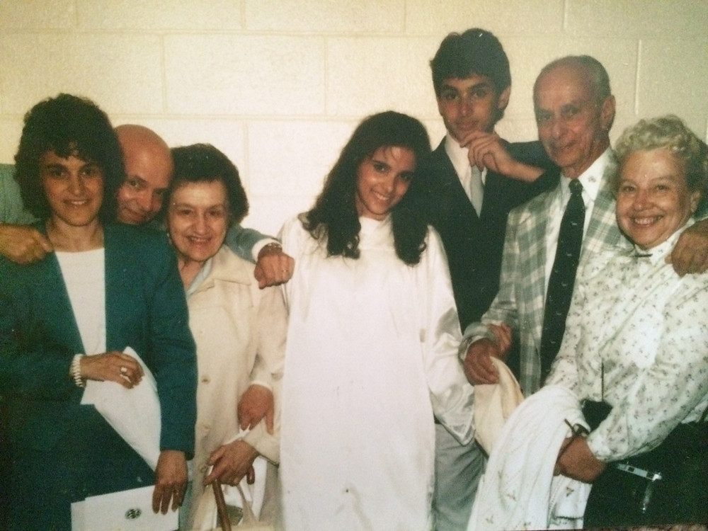 My high school graduation. Only three of us are living and breathing on earth, but I cannot deny I feel the energy from everyone else, including my maternal grandfather, not pictured here because he died when I was 6.