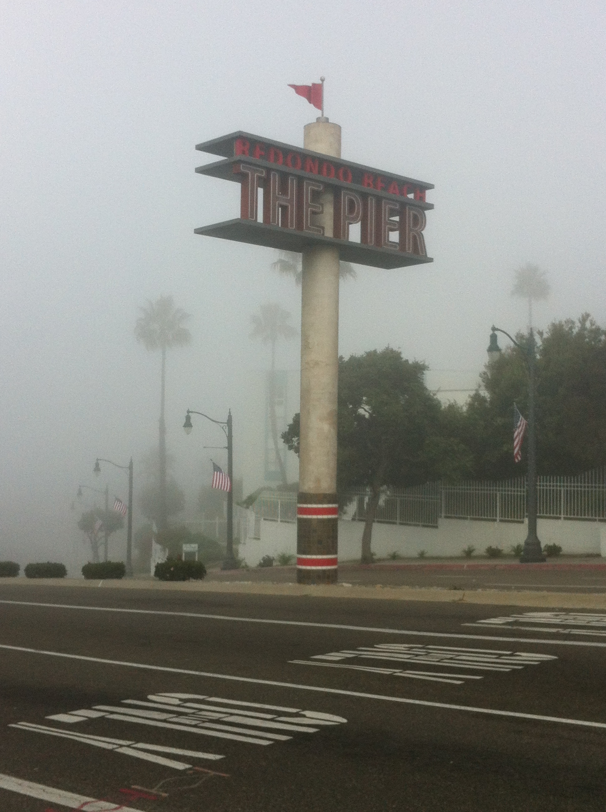 Redondo Beach Pier: Fog